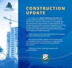 Milan Residenze Fairview Construction Update