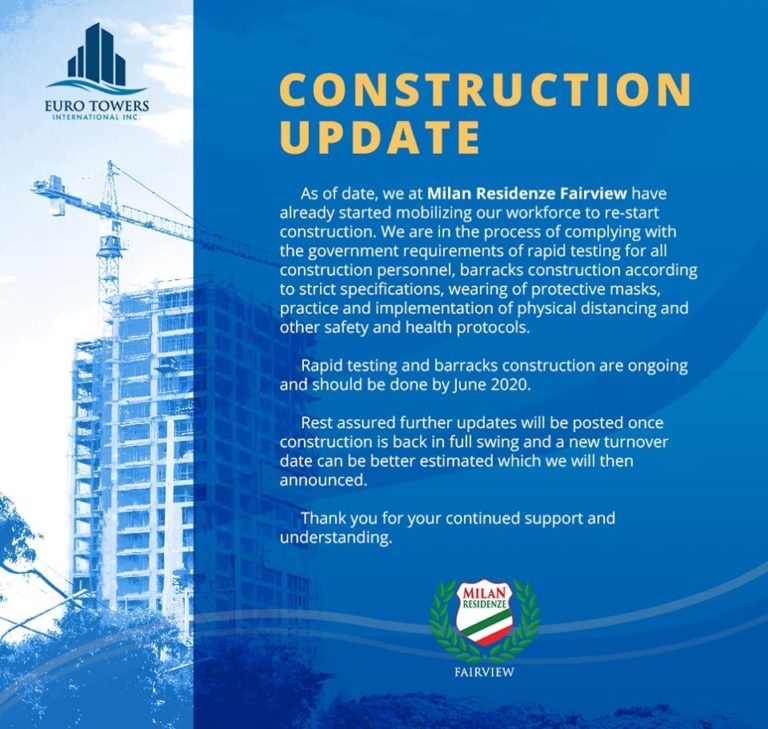 Milan Residenze Fairview Construction Update