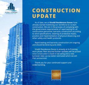 Vivaldi Residences Davao Construction Update