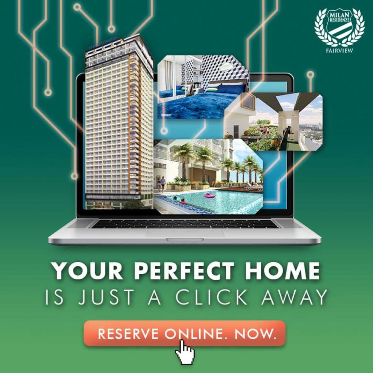 Reserve online now! Having your Milan Residenze Fairview unit is just a click away!