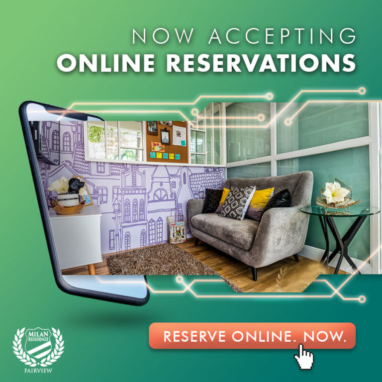 Milan Residenze Fairview is now accepting Online Reservation!