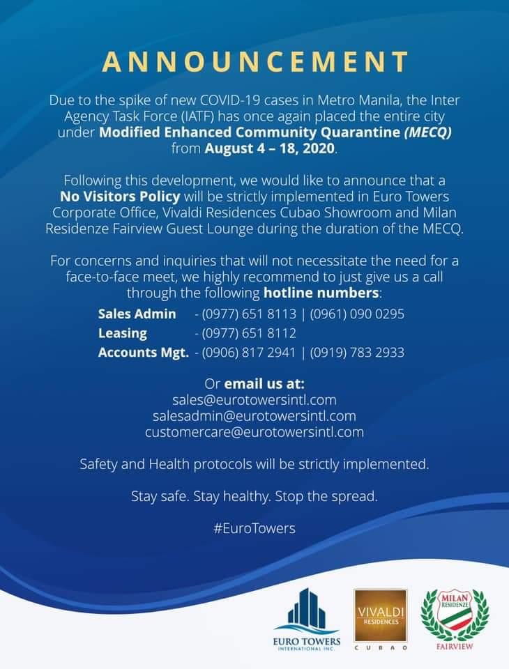 Metro Manila under MECQ from August 4-18, 2020