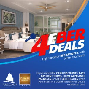 """Light up your """"BER"""" months with offers that LASTS for Vivaldi Residences Davao!"""